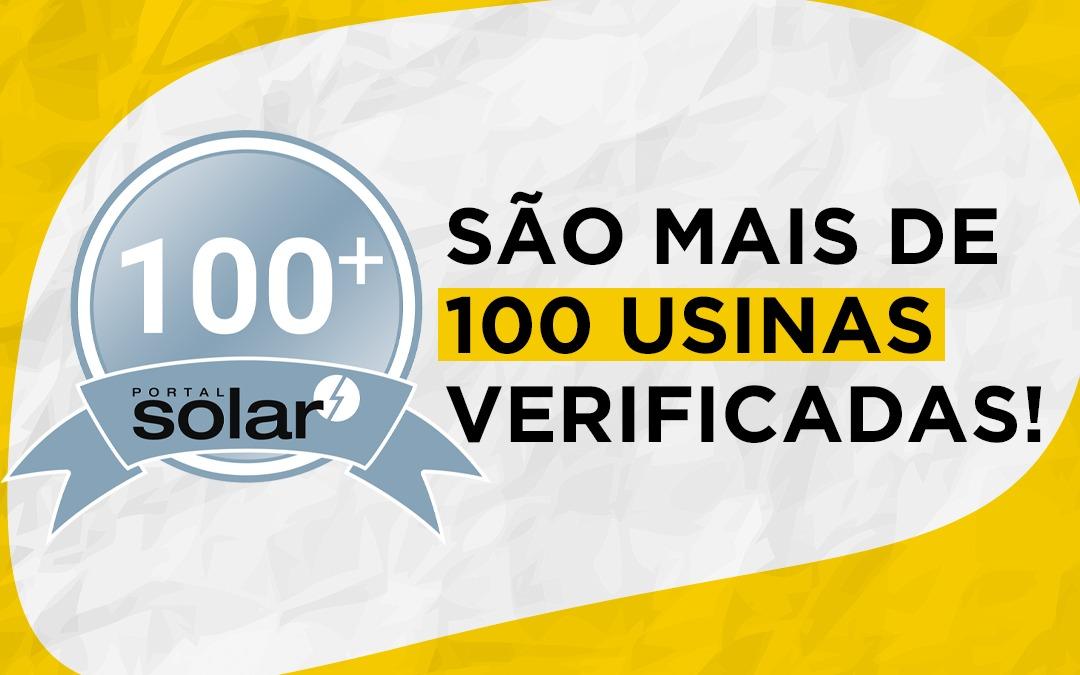 São mais de 100 usinas verificadas pelo Brasil através do portal solar!